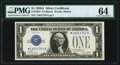 Small Size:Silver Certificates, Fr. 1601* $1 1928A Silver Certificate Star. PMG Choice Uncirculated 64.. ...
