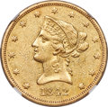 Liberty Eagles, 1842-O $10 AU53 NGC. Variety...