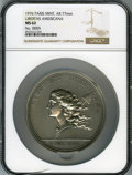 20th Century Tokens and Medals, 1976 Libertas Americana Medal, Paris Mint, MS62 NGC. Silver, 77 mm....