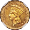 1885 $3 -- Cleaned -- NGC Details. Unc....(PCGS# 8007)