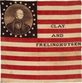 Political:Textile Display (pre-1896), Henry Clay: Outstanding Portrait Flag.. ...