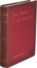 "Books:Mystery & Detective Fiction, A[rthur] Conan Doyle. The Sign of Four. London: Spencer Blackett, 1890. First edition, second issue with typo ""13"" f..."