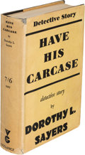 Books:Mystery & Detective Fiction, Dorothy L. Sayers. Have His Carcase. London: Victor Gollancz Ltd, 1932. First edition....