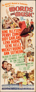 "Movie Posters:Musical, Words and Music (MGM, 1948). Folded, Fine+. Insert (14"" X 36""). Musical.. ..."