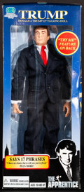 """Movie Posters:Miscellaneous, Donald Trump Lot (2004/2005). Very Fine-. Talking Doll in OriginalPackaging (6"""" X 14"""" X 3"""") & Autographed Watch Box with Or...(Total: 2 Items)"""
