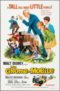 "Movie Posters:Musical, The Gnome-Mobile & Other Lot (Buena Vista, R-1976). Folded,Very Fine. One Sheets (3) (27"" X 41"") & Promotional Poste..."