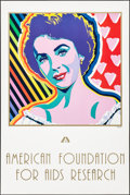 Movie Posters:Miscellaneous, Elizabeth Taylor - American Foundation for AIDS Research (Americanfoundation for AIDS Research, 1993). Rolled, Very Fine-.