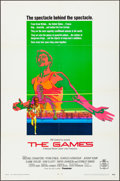 "Movie Posters:Sports, The Games (20th Century Fox, 1970). Folded, Very Fine-. One Sheet (27"" X 41""), Lobby Card Set of 8 (11"" X 14""), Cut Pressboo... (Total: 11 Items)"