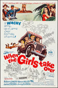 "Movie Posters:Comedy, When the Girls Take Over & Other Lot (Parade Releasing, 1962).Folded, Very Fine. One Sheets (3) (27"" X 41""), Lobby C..."