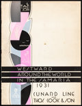 """Movie Posters:Miscellaneous, Westward Around the World in the Samaria (Cunard Line, 1931).Fine/Very Fine. Brochure (28 Pages, 10"""" X 13) Bobri Artwork. M..."""