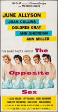 "Movie Posters:Drama, The Opposite Sex & Other Lot (MGM, 1956). Very Fine-. ThreeSheet (41"" X 79.5"") & One Sheet (27"" X 41""). Drama.. ....."
