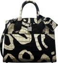 "Luxury Accessories:Bags, Louis Vuitton Limited Edition Black & White Alligator ""Tribal Print"" City Steamer PM Bag. Condition: 1. 10.5"" Width x ..."
