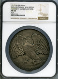 20th Century Tokens and Medals, 1917 Declaration of War Medal, Uniface, American Numismatic Society, MS63 NGC. Miller-ANS-31. Serial #24. Silver, 89 mm....