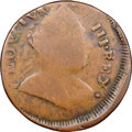 Colonials, 1785 COPPER Immune Columbia Copper, George III Obverse, VG10 NGC. Vlack 15-85NY, W-1995, High R.6....