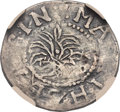 Colonials, 1652 6PENCE Willow Tree Sixpence -- Plugged -- NGC Details. Fine. Noe 1-A, W-130, Salmon 1-A, High R.6....