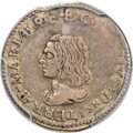 Colonials, (1659) 4PENCE Lord Baltimore Fourpence XF40 PCGS. CAC. Hodder 1-A, W-1010, R.6....