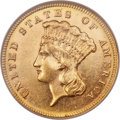 Three Dollar Gold Pieces, 1884 $3 MS61 Prooflike NGC....