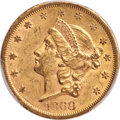 Liberty Double Eagles, 1868-S $20 MS61 PCGS. CAC....