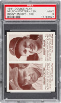 Baseball Cards:Singles (1940-1949), 1941 R330 Double Play Potter/McCoy #129/130 PSA Mint 9 - Pop two, None Higher. ...