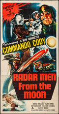 "Movie Posters:Serial, Radar Men from the Moon (Republic, 1952). Folded, Fine/Very Fine.Stock Three Sheet (41"" X 80""). Serial.. ..."