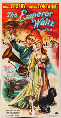 "The Emperor Waltz (Paramount, 1948). Folded, Very Fine-. Three Sheet (41"" X 79.5""). Musical"