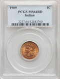 Indian Cents, 1909 1C MS64 Red PCGS. PCGS Population: (1027/903). NGC Census: (352/316). CDN: $175 Whsle. Bid for problem-free NGC/PCGS M...