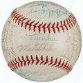 Autographs:Baseballs, 1962 Los Angeles Dodgers Team Signed Baseball (29 Signatures)....