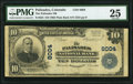 National Bank Notes:Colorado, Palisades, CO - $10 1902 Plain Back Fr. 625 The Palisades NB Ch. # 8004 PMG Very Fine 25.. ...
