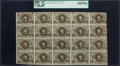 Fr. 1232 5¢ Second Issue Full Sheet of 20 PCGS Very Fine 35PPQ