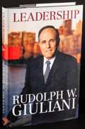 Movie Posters:Miscellaneous, Leadership by Rudolph Giuliani & Other Lot (Hyperion, 2002).Very Fine. First Edition Autographed Hardcover Book (407 Pages,...(Total: 2 Items)
