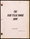 "Movie Posters:Comedy, The Mary Tyler Moore Show (CBS, 1974). Very Fine-. Television Production Script (54 Pages, 8.5"" X 11"") Season 5, Episode 12 ..."