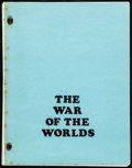 Movie Posters:Science Fiction, The War of the Worlds by Barré Lyndon (Paramount, 1953). VeryFine-. Copied Revised Final Shooting Script (122 Pages,...