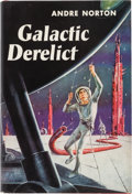 Books:First Editions, Andre Norton Galactic Derelict Jerry Weist's First Signed Edition (World Publishing, 1959)....