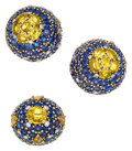 Estate Jewelry:Suites, Sapphire, Diamond, Platinum, Gold Jewelry Suite, Marchak, French. ...