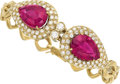 Estate Jewelry:Bracelets, Rubellite Tourmaline, Diamond, Gold Bracelet . ...