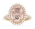 Estate Jewelry:Rings, Padparadscha Sapphire, Diamond, Rose Gold Ring . ...