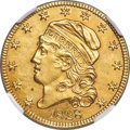 Early Half Eagles, 1828 $5 BD-4, High R.6 -- Repaired -- NGC Details. AU....