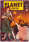 Pulps:Science Fiction, Planet Stories V3#6 Yakima Pedigree (Fiction House, 1947) Condition: FN....