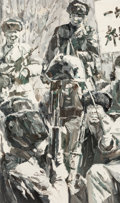 Paintings, Xiao Bo (Chinese, b. 1975). Untitled (quadriptych), 2006. Acrylic on canvas. 60 x 36 inches (152.4 x 91.4 cm). Each init... (Total: 4 Item)
