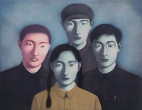 Zhang Xiaogang (Chinese, b. 1958) Big Family No. 1 from the series Bloodline, 2006 Lithog