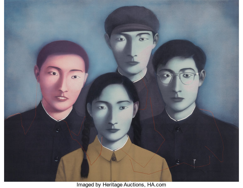 Zhang Xiaogang (Chinese, b  1958)  Big Family No  1 from the series  Bloodline, 2006  Lithog