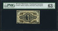 Fractional Currency:Third Issue, Fr. 1254 10¢ Third Issue PMG Choice Uncirculated 63 EPQ.. ...