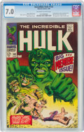 Silver Age (1956-1969):Superhero, The Incredible Hulk #102 (Marvel, 1968) CGC FN/VF 7.0 Off-white to white pages....