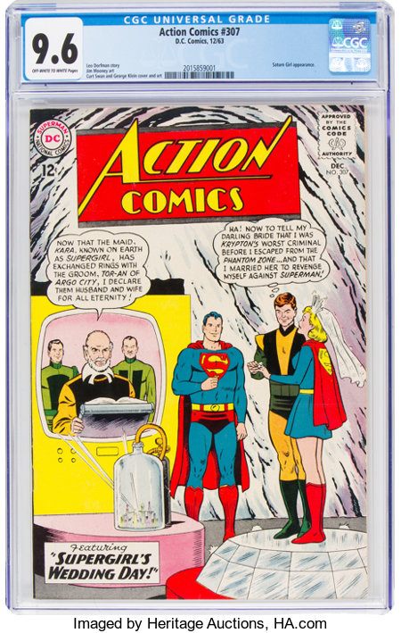 Action Comics #307 (DC, 1963) CGC NM+ 9.6 Off-white to white pages....