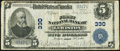 National Bank Notes:Maine, Lewiston, ME - $5 1902 Plain Back Fr. 598 The First National Bank Ch. # 330 Fine.. ...