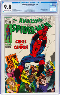 The Amazing Spider-Man #68 (Marvel, 1969) CGC NM/MT 9.8 Off-white to white pages