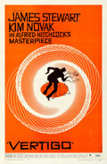 "Movie Posters:Hitchcock, Vertigo (Paramount, 1958). Very Fine- on Linen. One Sheet (27"" X 41""). Saul Bass Artwork.. ..."
