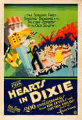 "Movie Posters:Black Films, Hearts in Dixie (Fox, 1929). Fine+ on Linen. One Sheet (28"" X 41"").. ..."