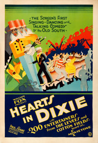 "Hearts in Dixie (Fox, 1929). Fine+ on Linen. One Sheet (28"" X 41"")"