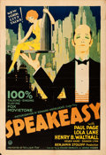 "Movie Posters:Drama, Speakeasy (Fox, 1929). Folded, Fine+. One Sheet (28"" X 41"").. ..."